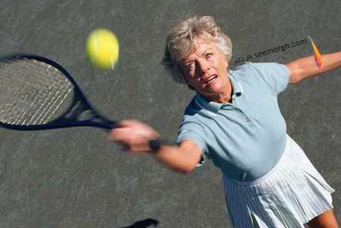 تنیس،ورزش،پیرزن