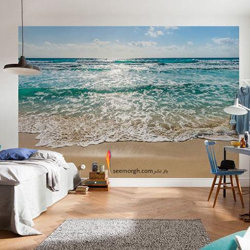 کاغذ دیواری,کاغذ دیواری سه بعدی,کاغذ دیواری سه بعدی برای اتاق خواب,کاغذ دیواری برای اتاق خواب,کاغذ دیواری سه بعدی برای اتاق خواب با طرح دریا و ماسه