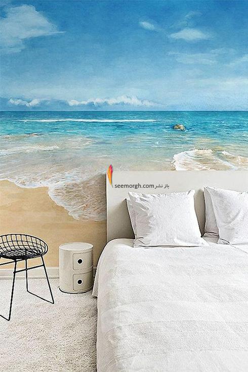 کاغذ دیواری,کاغذ دیواری برای اتاق خواب,کاغذ دیواری سه بعدی برای اتاق خواب,کاغذ دیواری سه بعدی برای اتاق خواب با طرح دریا
