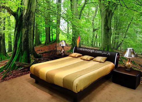 کاغذ دیواری,کاغذ دیواری سه بعدی,کاغذ دیواری برای اتاق خواب,کاغذ دیواری سه بعدی برای اتاق خواب,کاغذ دیواری سه بعدی برای اتاق خواب با طرح جنگل