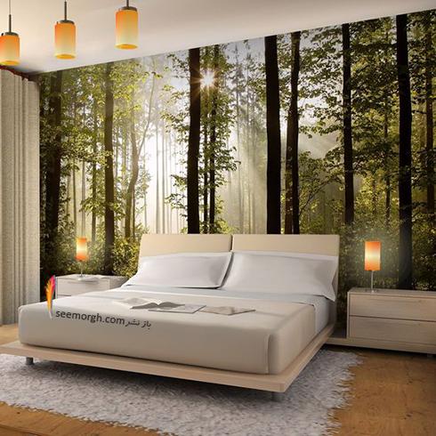 کاغذ دیواری,کاغذ دیواری برای اتاق خواب,کاغذ دیواری سه بعدی برای اتاق خواب,کاغذ دیواری سه بعدی برای اتاق خواب با طرح درخت