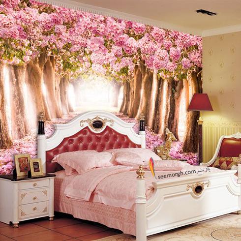 کاغذ دیواری,کاغذ دیواری سه بعدی,کاغذ دیواری برای اتاق خواب,کاغذ دیواری سه بعدی برای اتاق خواب,کاغذ دیواری سه بعدی برای اتاق خواب با طرح دالان طبیعت