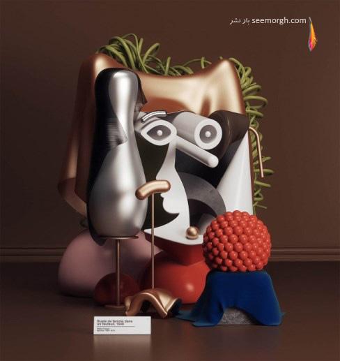 سه بعدی,مجسمه سازی,نقاشی,پیکاسو