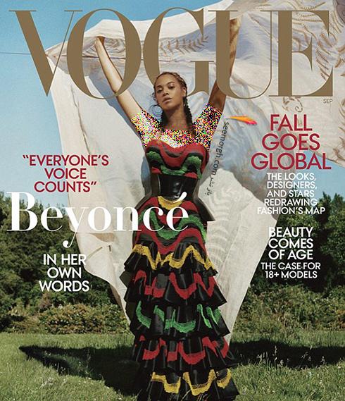 بیانسه,مجله ووگ,عکس های جدید بیانسه,عکس  های بیانسه Beyonce روی مجله ووگ Vogue
