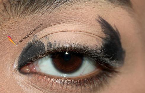 آرایش چشم,آموزش آرایش چشم,آرایش چشم دودی,آموزش آرایش چشم دودی,آرایش چشم اسموکی,آموزش آرایش چشم اسموکی,زدن سایه دودی برای آرایش چشم اسموکی