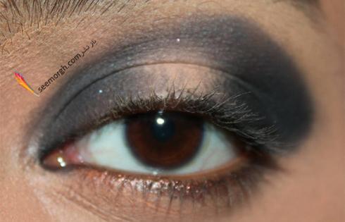 اضافه کردن مجدد سایه دودی برای آرایش چشم اسموکی,آرایش چشم,آموزش آرایش چشم,آرایش چشم دودی,آموزش آرایش چشم دودی,آرایش چشم اسموکی,آموزش آرایش چشم اسموکی