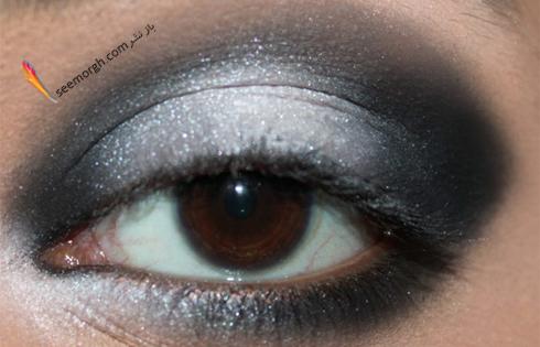 محو کردن سایه سفید برای آرایش چشم اسموکی,آرایش چشم,آموزش آرایش چشم,آرایش چشم دودی,آموزش آرایش چشم دودی,آرایش چشم اسموکی,آموزش آرایش چشم اسموکی
