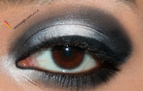کشیدن خط چشم برای آرایش چشم اسموکی,آرایش چشم,آموزش آرایش چشم,آرایش چشم دودی,آموزش آرایش چشم دودی,آرایش چشم اسموکی,آموزش آرایش چشم اسموکی