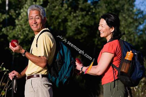 زن و مرد درحال ورزش کردن