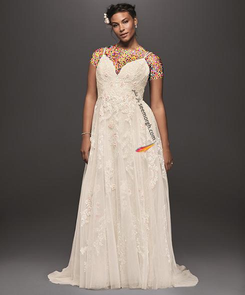 شیک ترین مدل لباس عروس 2018 سایز بزرگ به پیشنهاد مجله مد Bridal,لباس عروس,لباس عروس 2018,مدل لباس عروس,مدل لباس عروس 2018,لباس عروس سایز بزرگ,مدل لباس عروس سایز بزرگ