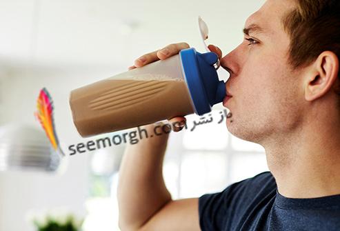 شیک پروتئین,نوشیدن شیک