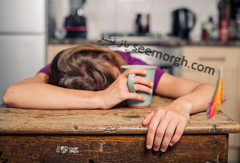 خستگی,زن خوابیده