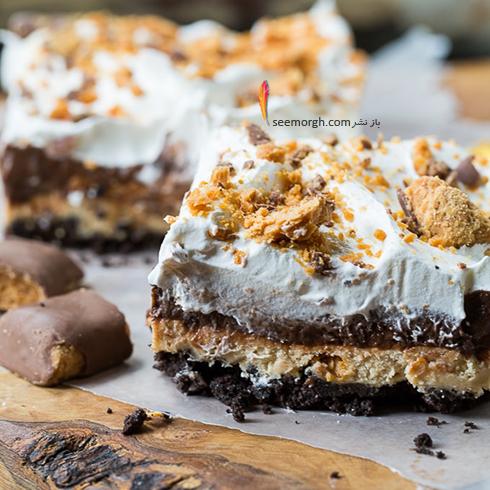 کيک,کيک يخچالي,کيک شکلاتي,کيک يخچالي شکلاتي,طرز تهيه کيک يخچالي شکلاتي با تکه هاي شکلات