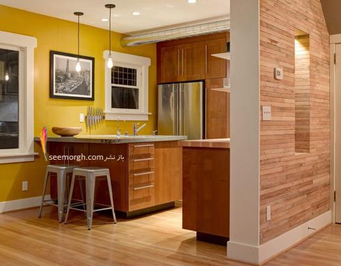 دکوراسیون آشپزخانه با رنگ زرد خردلی,دکوراسیون آشپزخانه,جدیدترین دکوراسیون آشپزخانه,دکوراسیون رنگی آشپزخانه,رنگ برای دکوراسیون آشپزخانه,