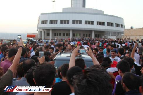 استقبال از مسعود شجاعي و اشکان دژاگه در تبريز