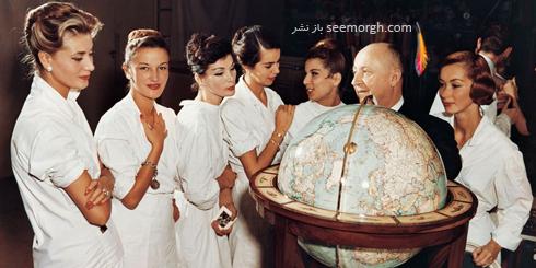 دیور,کریستین دیور,مدل های دیور,مدل های کریستین دیور,عکس های قدیمی برند دیور,کریستین دیور Christian Dior و مدل هایش در سال 1955