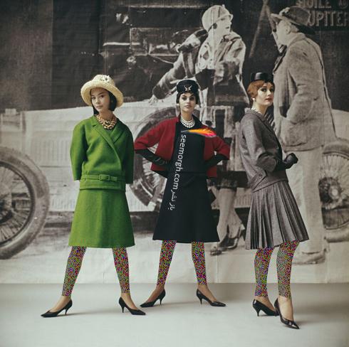 دیور,کریستین دیور,برند دیور,مدل های دیور,مدل های کریستین دیور,مدل های دیور Dior با سه لباس از طراحی های این برند در سال 1961