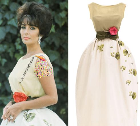 دیور,کریستین دیور,لباس های طراحی شده دیور,عکس های قدیمی برند دیور,عکس های قدیمی کریستین دیور,الیزابت تیلور,الیزابت تیلور Elizabeth Taylor با لباسی از برند دیور Dior در سال 1961 در آکادمی آواردز Academy Awards
