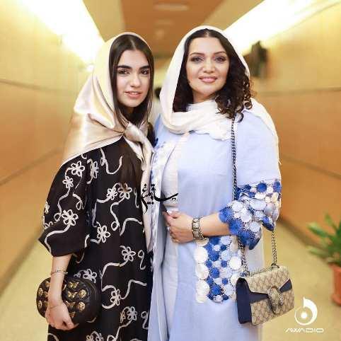 الهام پاوه نژاد و دخترش در کنسرت مهران مدیری