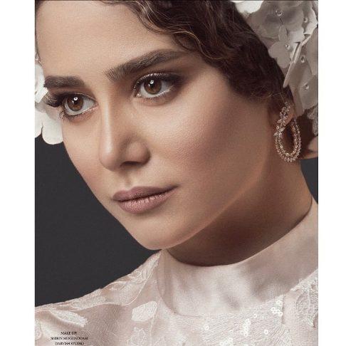 چهره الناز حبیبی به عنوان مدل عروس