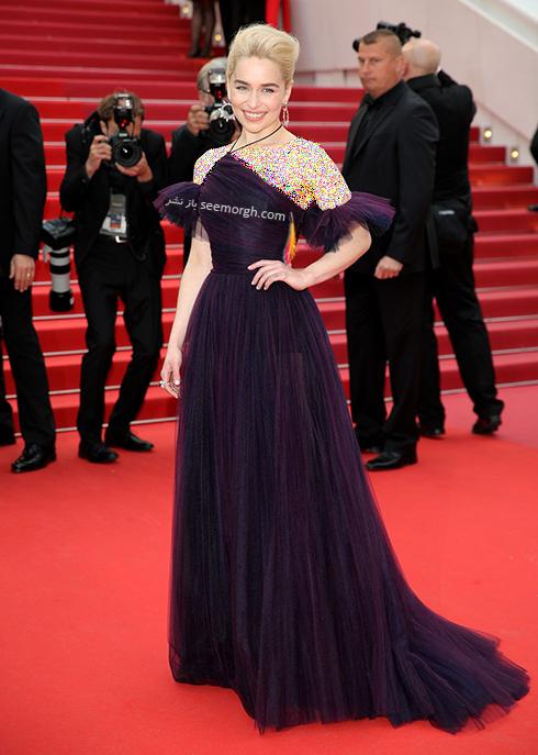 بهترین مدل لباس در جشنواره کن 2018 Cannes - امیلی کلارک Emilia Clarke,مدل لباس,جشنواره کن,جشنواره کن 2018,بهترین مدل لباس در جشنواره کن 2018,مدل لباس های برتر در جشنواره کن 2018
