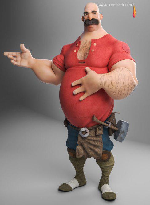 gilbertoribeiro,مرد آهنگر,کارتونی سه بعدی