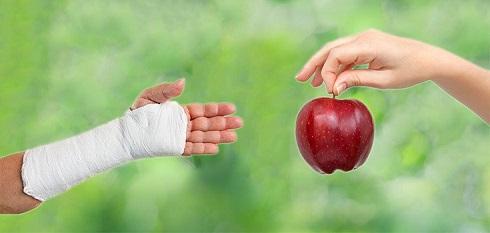 شکستگی استخوان,دست شکسته,سیب