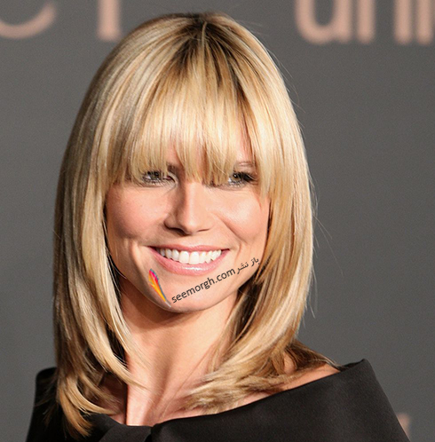 مدل مو,مدل مو چتری,مو چتری,مدل مو چتری به پیشنهاد هایدی کلوم Heidi Klum
