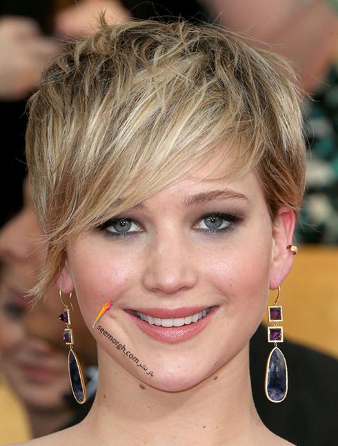 مدل مو,مدل مو چتری,مو چتری,مدل مو چتری به پیشنهاد جنیفر لارنس Jennifer Lawrence