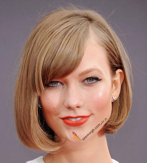 مدل مو,مدل مو چتری,چتری,مدل مو چتری به پیشنهاد کارلی کلوس karlie kloss