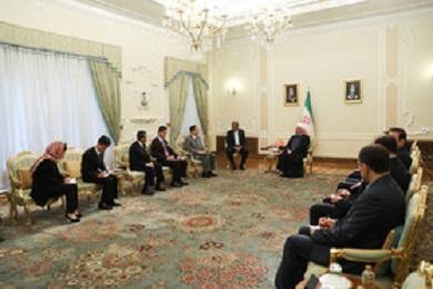 دیدار وزیر امور خارجه کره شمالی و حسن روحانی در ایران+تصاویر