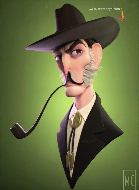 meganchocholek,مرد کارتونی,سه بعدی