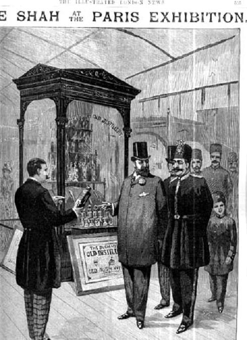 ناصرالدین شاه در پاریس,ناصرالدین شاه,بازدید ناصرالدین شاه از نمایشگاه پاریس