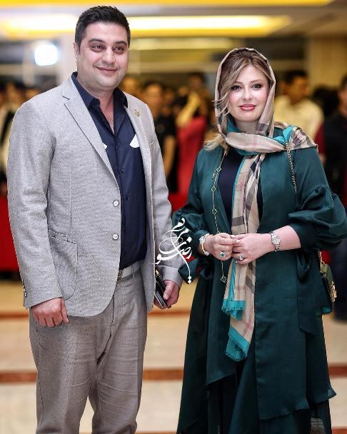 نیوشا ضیغمی و همسرش در جشن حافظ