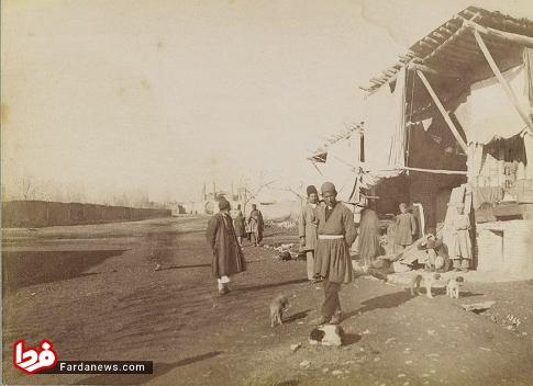 خیابان سعدی در 100 سال پیش