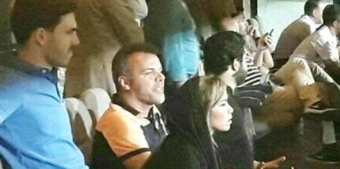 همسر پادوانی در ورزشگاه آزادی