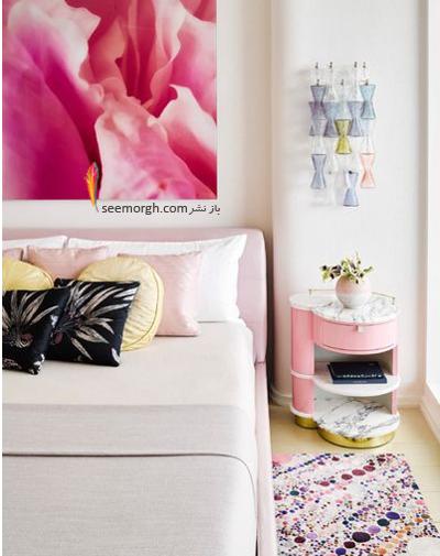 ترکیب رنگ صورتی با مشکی در دکوراسیون اتاق خواب,ترکیب رنگی در دکوراسیون داخلی,ترکیب رنگی صورتی در دکوراسیون داخلی,بهترین ترکیب رنگی صورتی در دکوراسیون داخلی