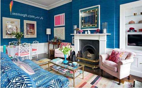 ترکیب رنگی صورتی و آبی در دکوراسیون داخلی,ترکیب رنگی در دکوراسیون داخلی,ترکیب رنگی صورتی در دکوراسیون داخلی,بهترین ترکیب رنگی صورتی در دکوراسیون داخلی