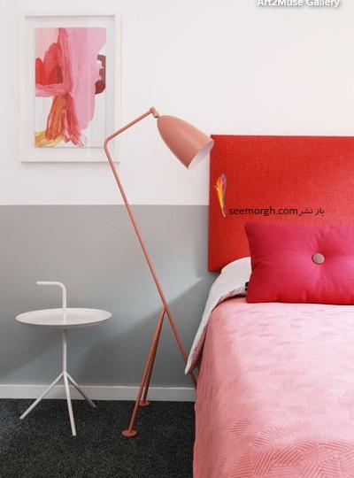 ترکیب رنگ صورتی و قرمز در دکوراسیون اتاق خواب,ترکیب رنگی در دکوراسیون داخلی,ترکیب رنگی صورتی در دکوراسیون داخلی,بهترین ترکیب رنگی صورتی در دکوراسیون داخلی