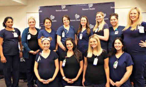 تعدادی از پرستاران باردار در کنفرانس خبری