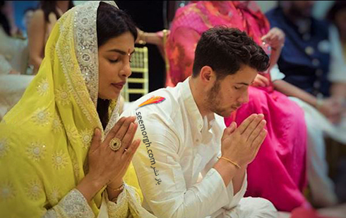 مراسم نامزدی پریانکا چوپرا Priyanka Chopra و نیک جوناس Nick Jonas در بمبئی,پریانکا چوپرا,نامزدی پریانکا چوپرا,مراسم نامزدی پریانکا چوپرا
