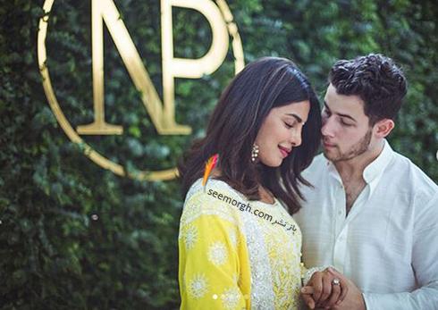 اولین عکس های مراسم نامزدی پریانکا چوپرا Priyanka Chopra و نیک جوناس Nick Jonas,پریانکا چوپرا,نامزدی پریانکا چوپرا,