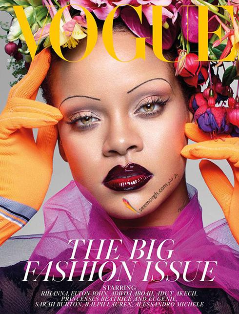 ریحانا,عکس های جدید ریحانا,جدیدترین عکس های ریحانا,عکس  های ریحانا Rihanna روی مجله ووگ vogue