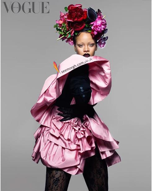 ریحانا,عکس های جدید ریحانا,جدیدترین عکس های ریحانا,جدیدترین عکس  های ریحانا Rihanna روی مجله ووگ vogue