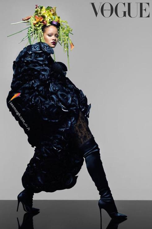 ریحانا,عکس های جدید ریحانا,جدیدترین عکس های ریحانا,عکس های جدید ریحانا Rihanna روی مجله ووگ vogue