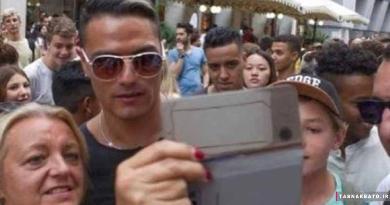 سلفی با بدل ایتالیایی رونالدو