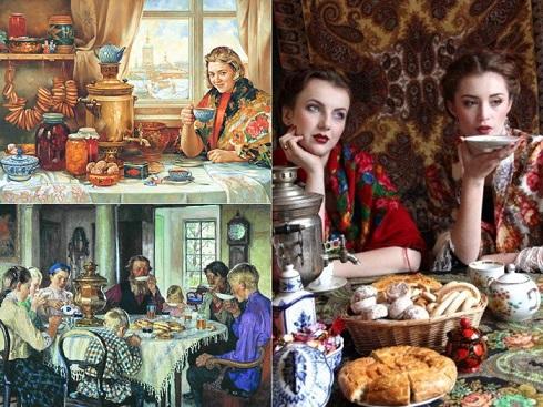 چای,آداب خوردن چای,آداب نوشیدن چای,آداب سرو چای,چای سماوری روسیه