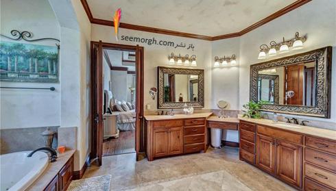 دکوراسیون داخلی ویلای سلطنتی سلنا گومز Selena Gomez - سرویس بهداشتی و حمام,سلنا گومز,دکوراسیون ویلای سلطنتی سلنا گومز,دکوراسیون داخلی خانه افراد مشهور