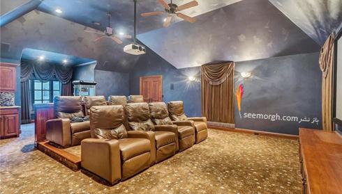 دکوراسیون داخلی ویلای سلطنتی سلنا گومز Selena Gomez - سالن سینما,سلنا گومز,دکوراسیون ویلای سلطنتی سلنا گومز,دکوراسیون داخلی خانه افراد مشهور