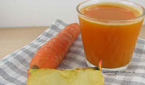 نوشیدنی رژیمی,لاغری,کاهش وزن,لاغری با نوشیدنی رژیمی,کاهش وزن با نوشیدنی رژیمی,لاغری و کاهش وزن با نوشیدنی رژیمی هویج و سیب